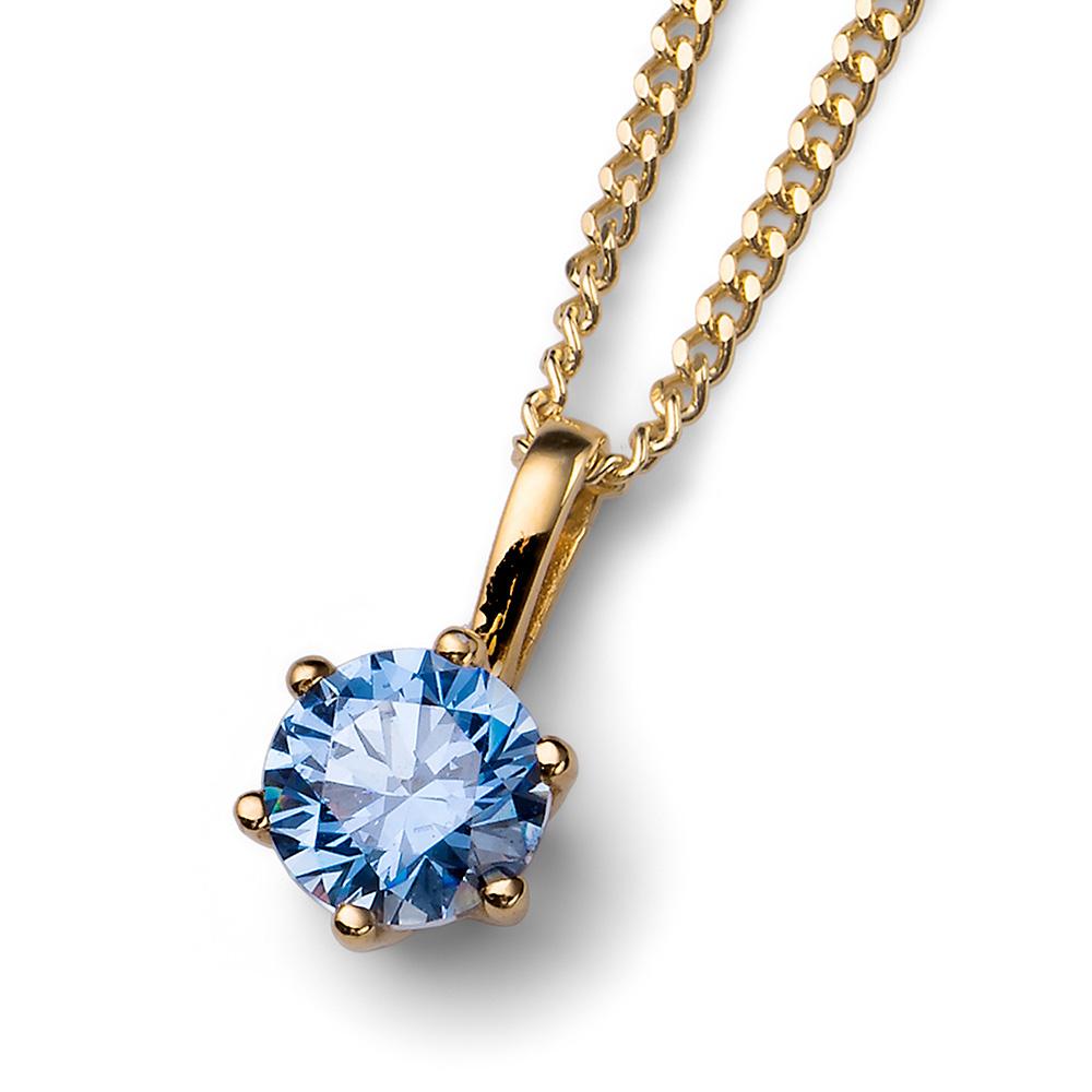 Přívěsek s krystaly Swarovski Oliver Weber 61125G-BLU