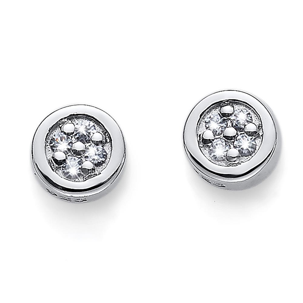 Stříbrné  náušnice s krystaly Swarovski Oliver Weber 62073R