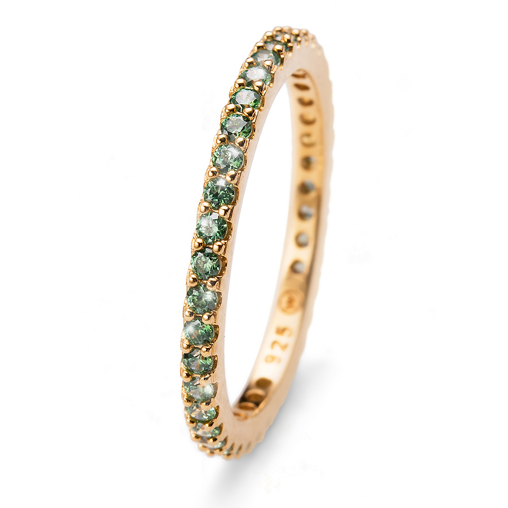 Prsten s krystaly Swarovski Oliver Weber 63225GL-GRE
