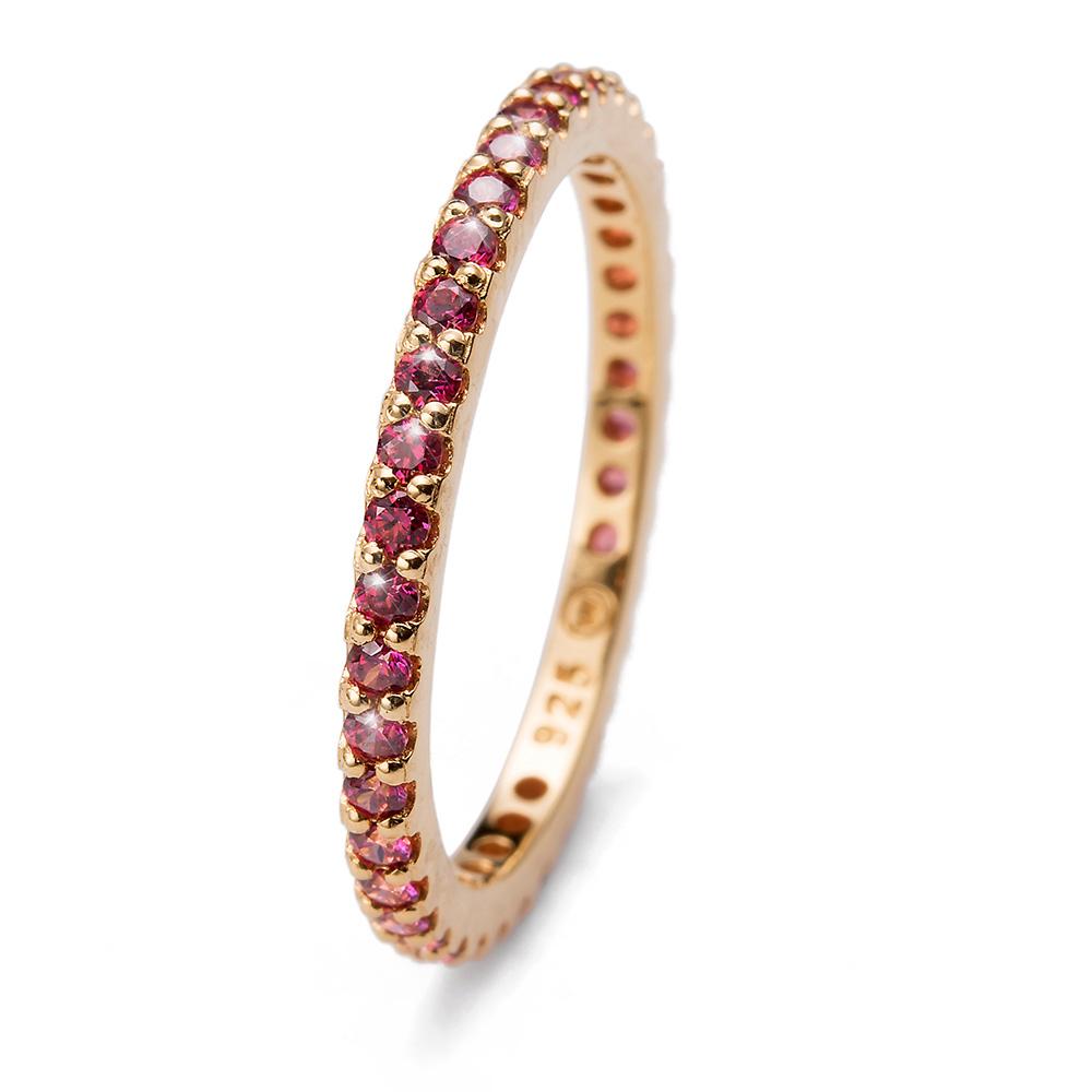 Prsten s krystaly Swarovski Oliver Weber 63225GL-RED