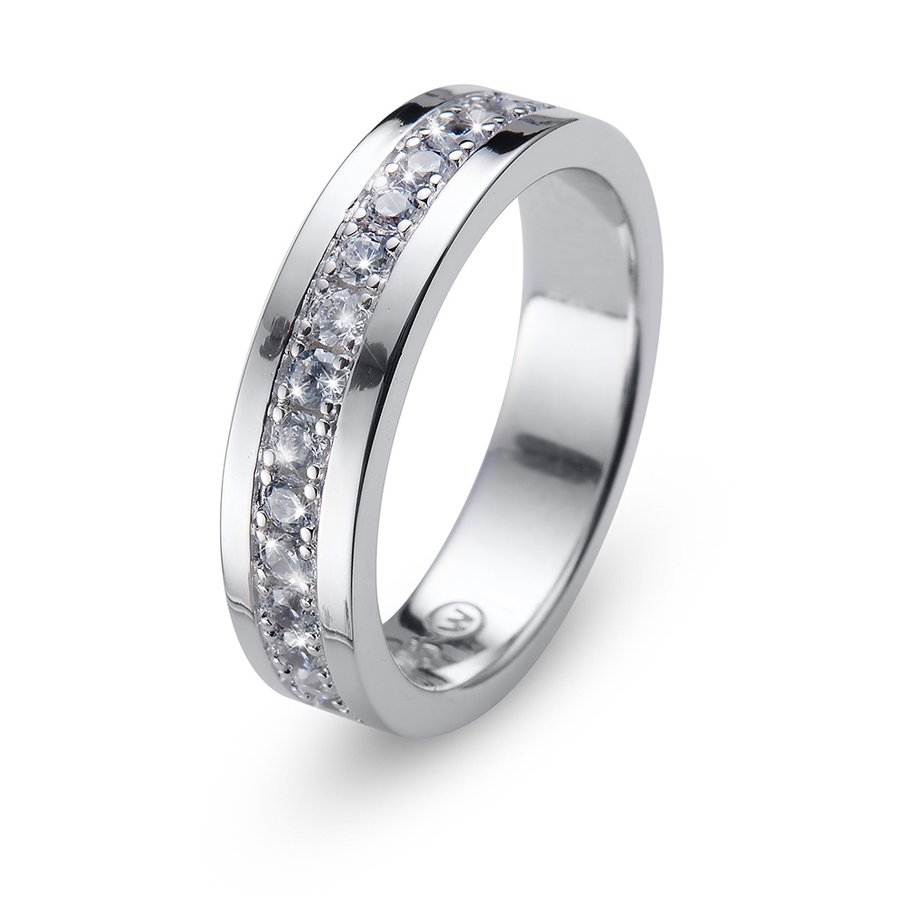ff4fcf0f0 Stříbrný prsten s krystaly Swarovski Oliver Weber Ring Everlast 63228