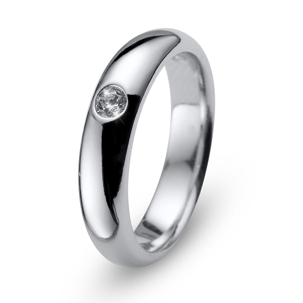 Stříbrný prsten s krystaly Swarovski Oliver Weber Ring Future 63229