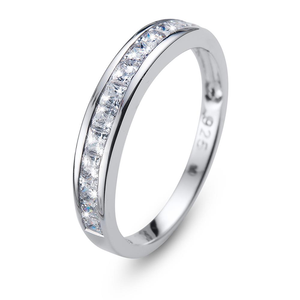 Stříbrný prsten s krystaly Swarovski Oliver Weber Ring Foursquare 63231