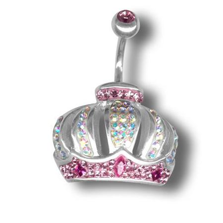 Piercing s krystaly Swarovski Crowns D