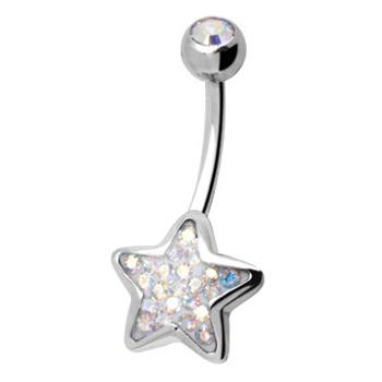 Piercing s krystaly Swarovski AXSTAR01-E