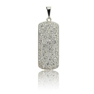 Stříbrný přívěsek s krystaly Swarovski Crystallis Ortangula