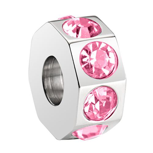 Přívěsek Morellato Drops Crystal Light Rose