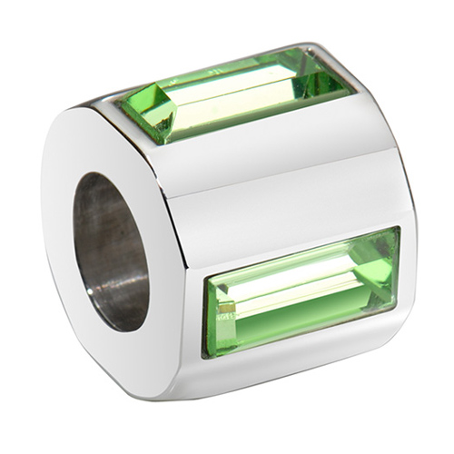 Přívěsek Morellato Drops Crystal Green Baguette
