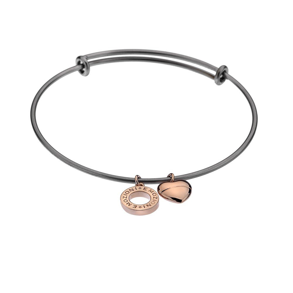 Ocelový náramek Hot Diamonds Emozioni Rose Gold Bangle