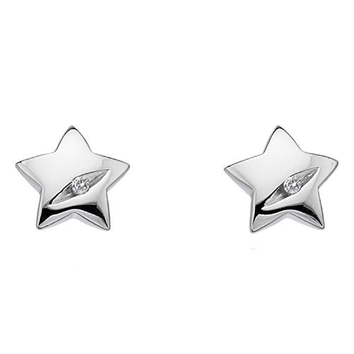 Støíbrné náušnice Hot Diamonds Shooting Stars DE323