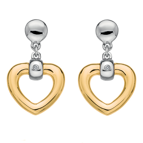 Náušnice Hot Diamonds Just add Love Bonded Gold