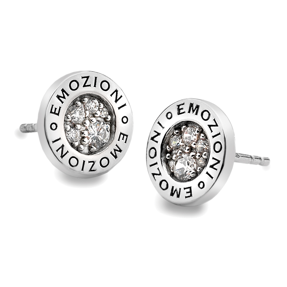 Stříbrné náušnice Hot Diamonds Emozioni Pianeta Clear