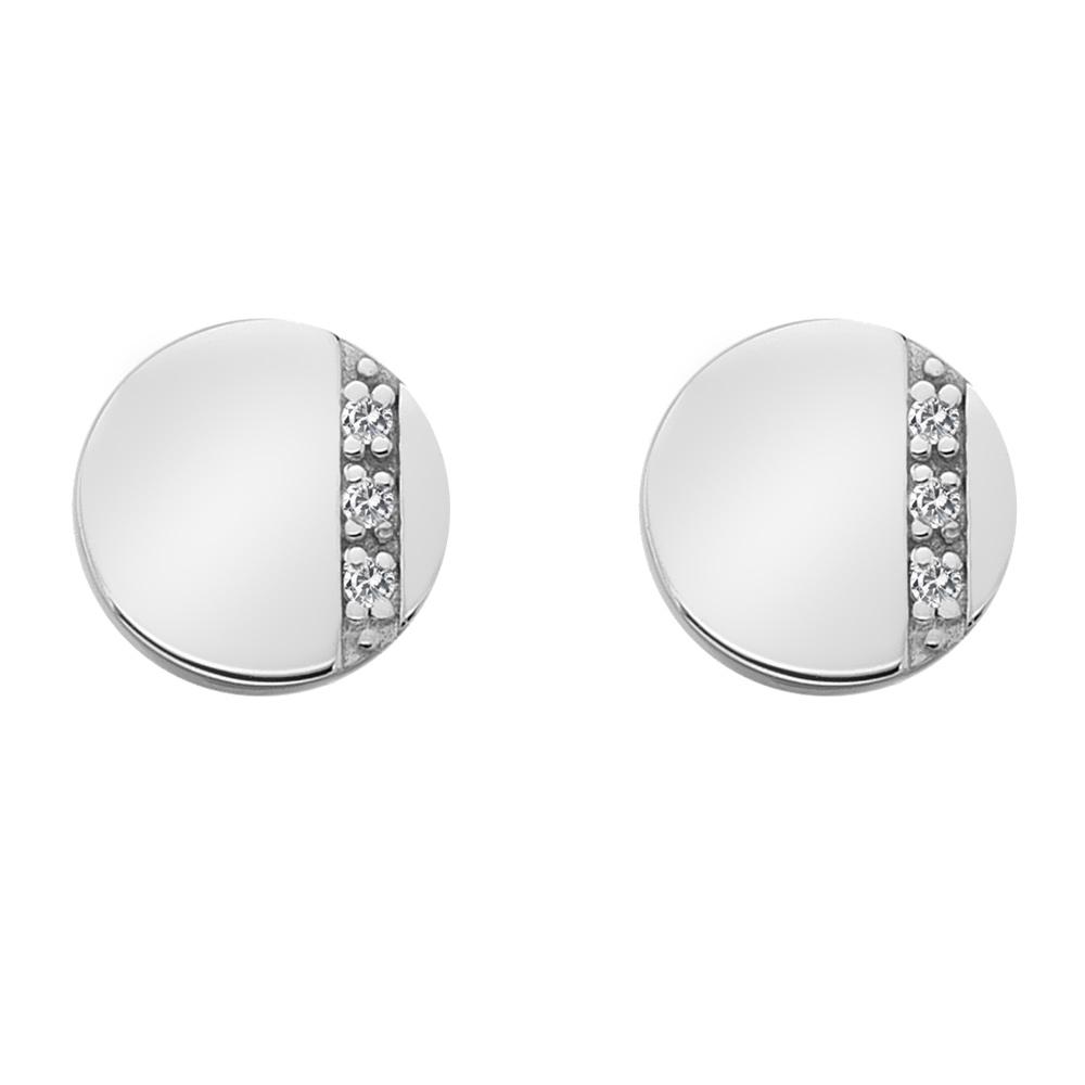 Støíbrné náušnice Hot Diamonds Silhouette Circle