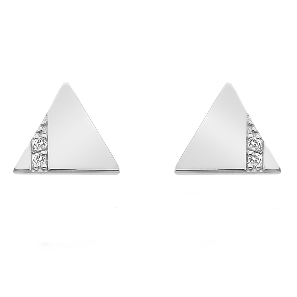 Støíbrné náušnice Hot Diamonds Silhouette Triangle