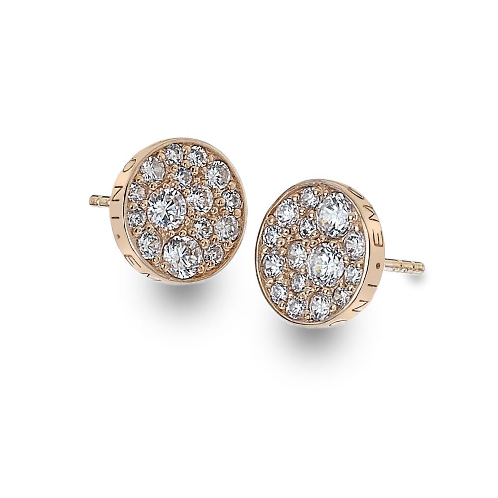 Støíbrné náušnice Hot Diamonds Emozioni Scintilla Rose Gold
