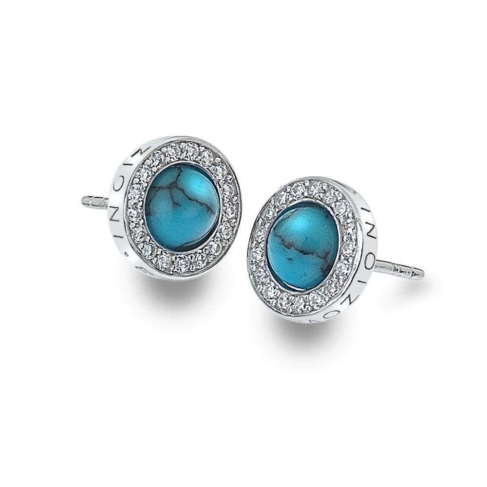 Støíbrné náušnice Hot Diamonds Emozioni Giove Turquoise
