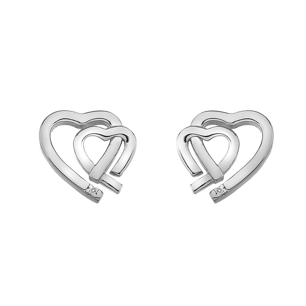 Stříbrné náušnice Hot Diamonds Love DE531