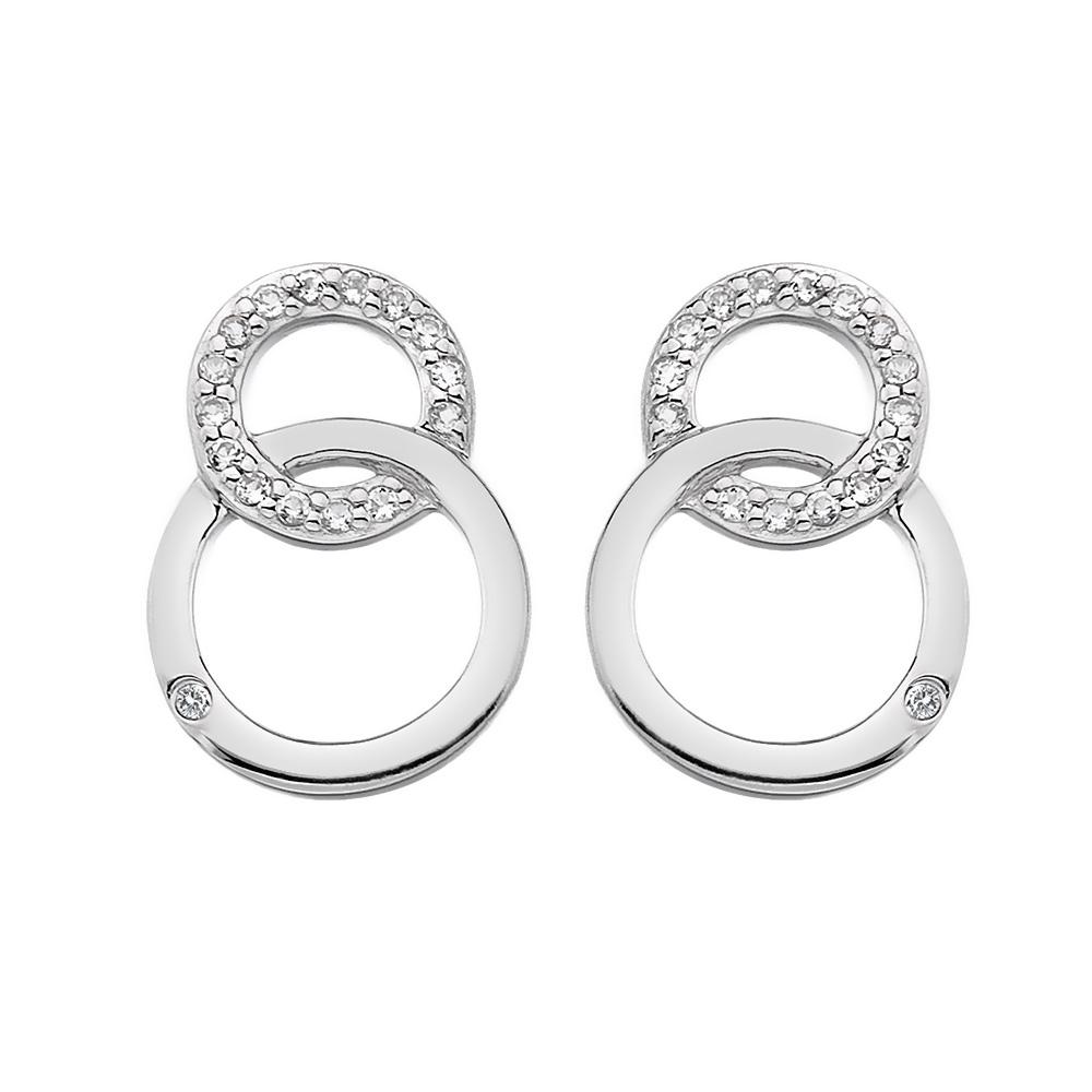 Støíbrné náušnice Hot Diamonds Love DE533
