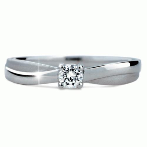 Prsten s briliantem Danfil DF1906