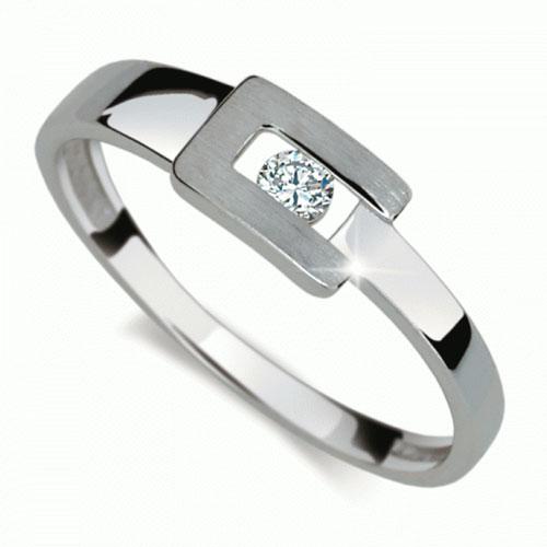 Prsten s briliantem Danfil DF2039
