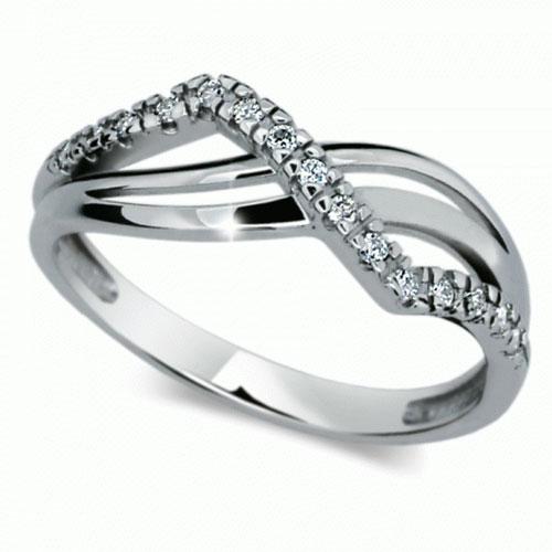 Prsten s brilianty Danfil DF2082