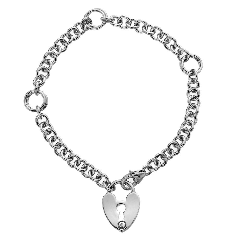 Støíbrný náramek Hot Diamonds Love Lock