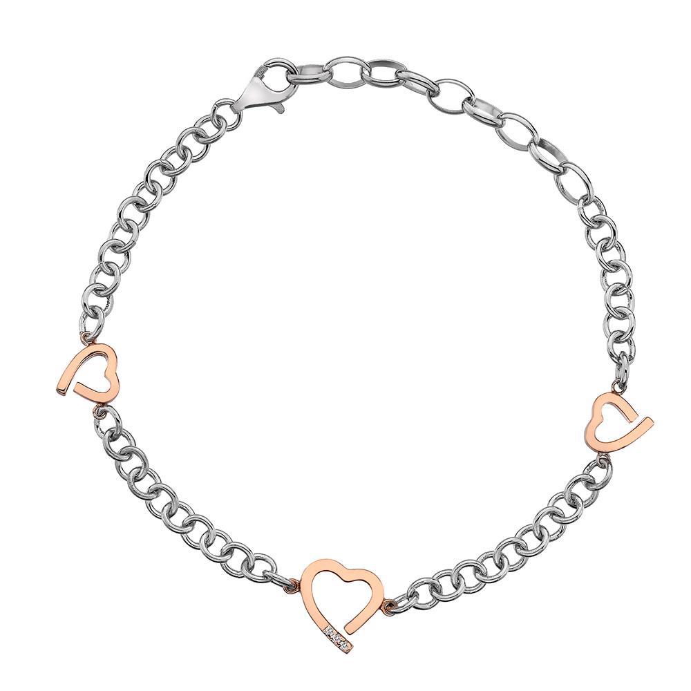 Støíbrný náramek Hot Diamonds Love DL565