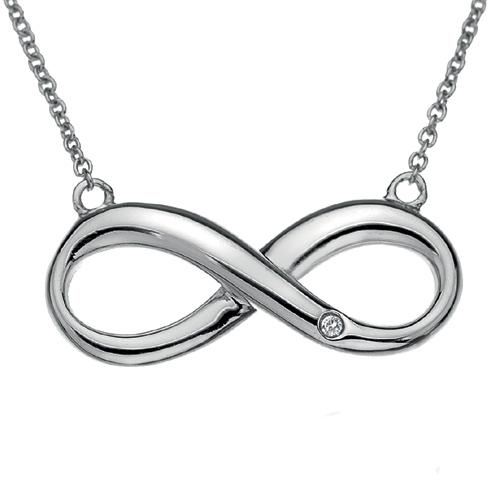 Støíbrný náhrdelník Hot Diamonds Infinity