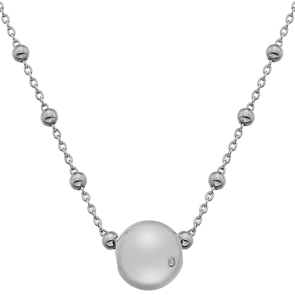 Støíbrný náhrdelník Hot Diamonds Globe
