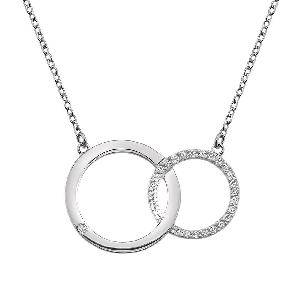 Støíbrný náhrdelník Hot Diamonds Love DN127