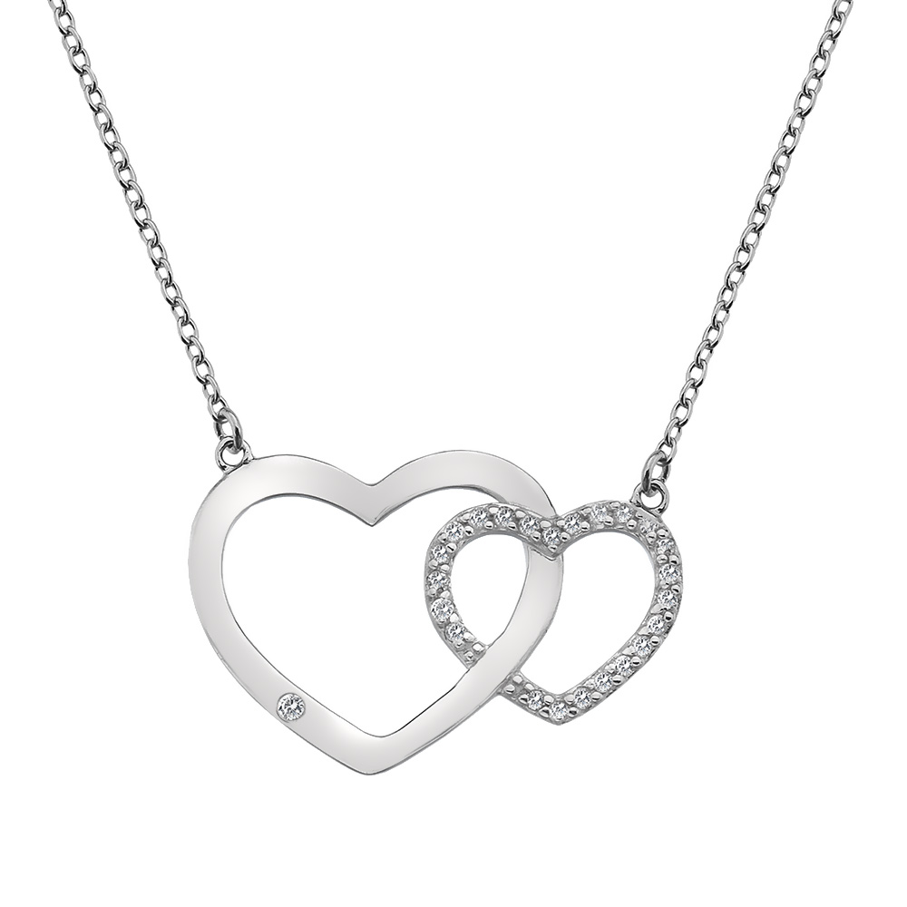 Støíbrný náhrdelník Hot Diamonds Love DN128
