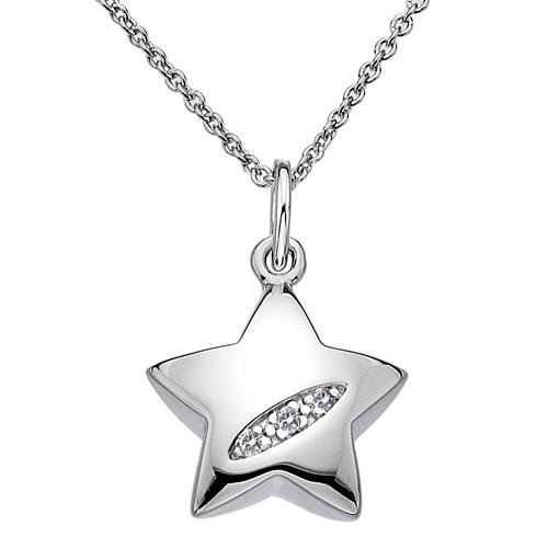 Řetízek s přívěskem hvězda diamant