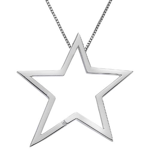 Støíbrný pøívìsek Hot Diamonds Extravagance Open Star