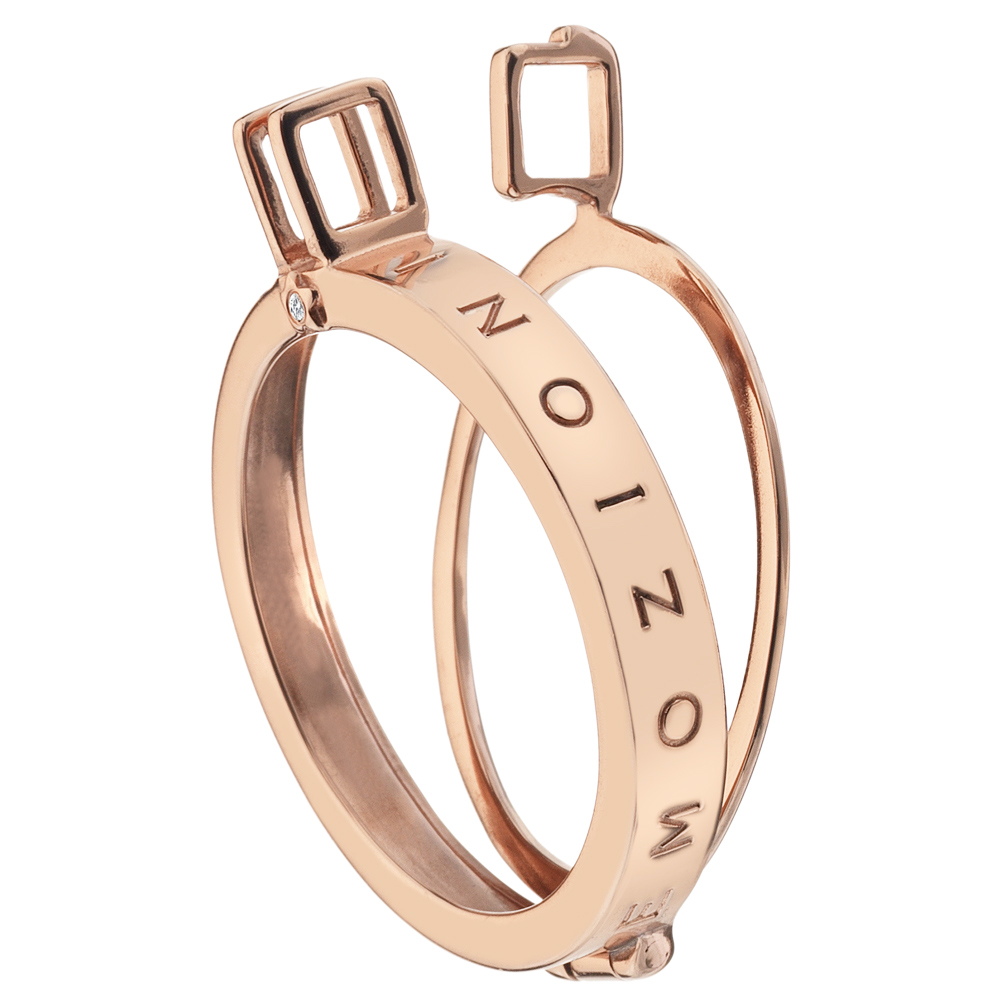 Stříbrný přívěsek Hot Diamonds Emozioni Capri Coin Keeper Rose Gold