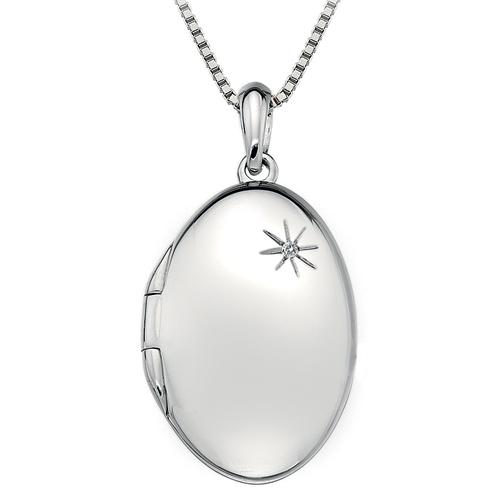 Stříbrný přívěsek Hot Diamonds Memories Oval Locket