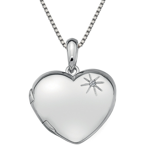 Stříbrný přívěsek Hot Diamonds Memories Heart Locket