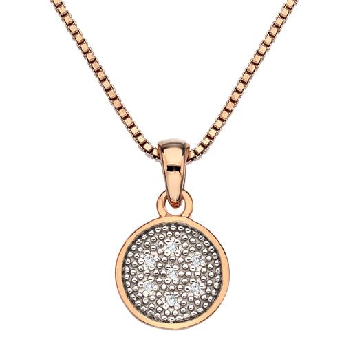 Přívěsek Hot Diamonds Stargazer Circle Rose Gold
