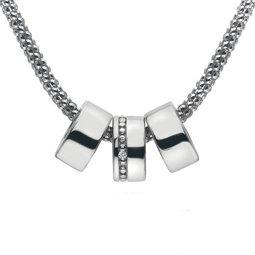 Støíbrný náhrdelník Hot Diamonds Trio