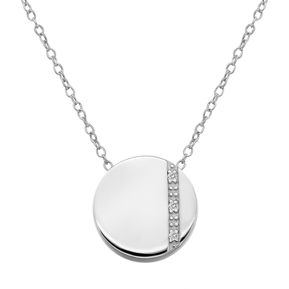 Støíbrný pøívìsek Hot Diamonds Silhouette Circle