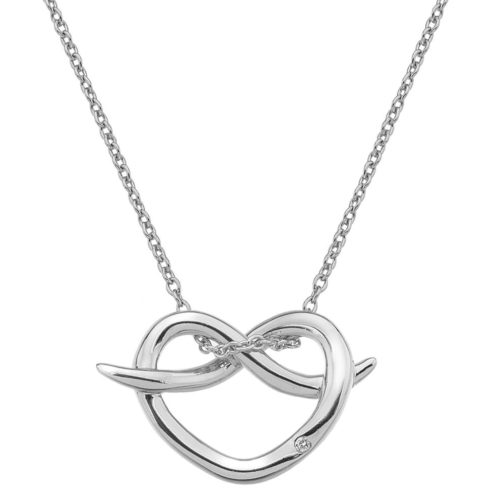 Støíbrný pøívìsek Hot Diamonds Infinity Heart