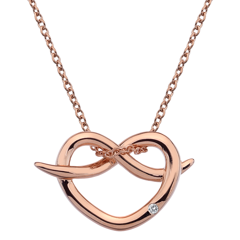 Støíbrný pøívìsek Hot Diamonds Infinity Heart Rose Gold