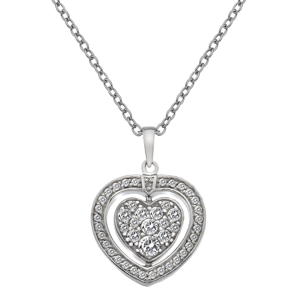 Støíbrný náhrdelník Hot Diamonds Turning Heart