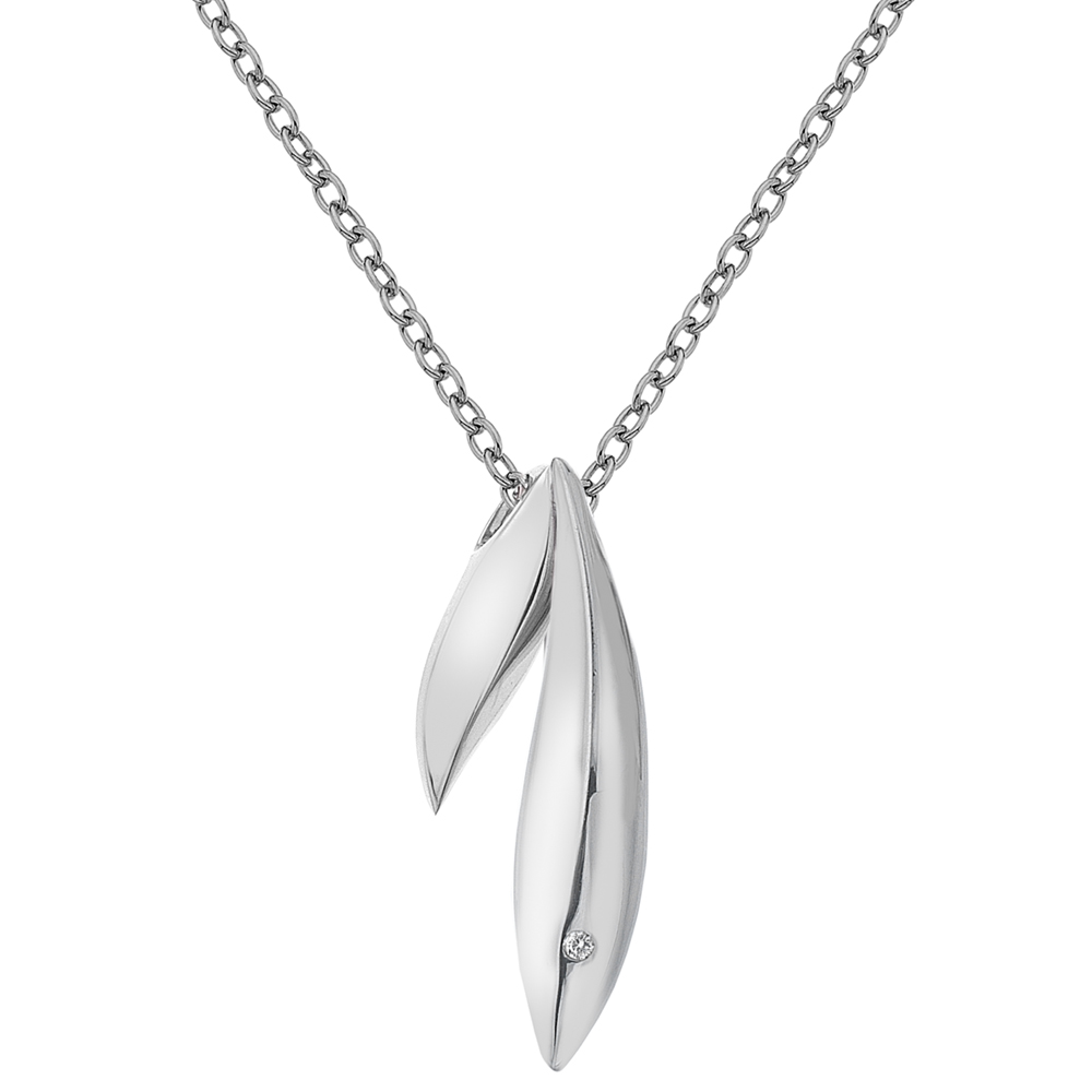 Støíbrný pøívìsek Hot Diamonds Leaf