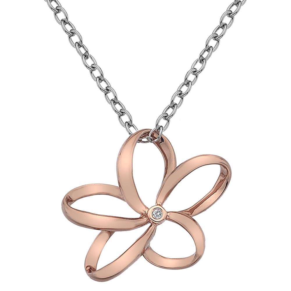 Støíbrný náhrdelník Hot Diamonds Paradise Rose Gold