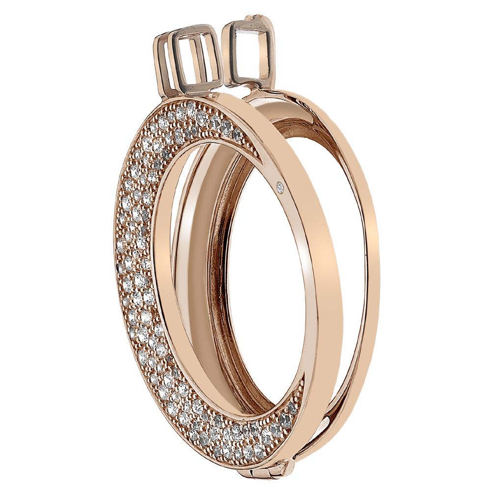 Støíbrný pøívìsek Hot Diamonds Emozioni Luna Rose Gold Coin Keeper