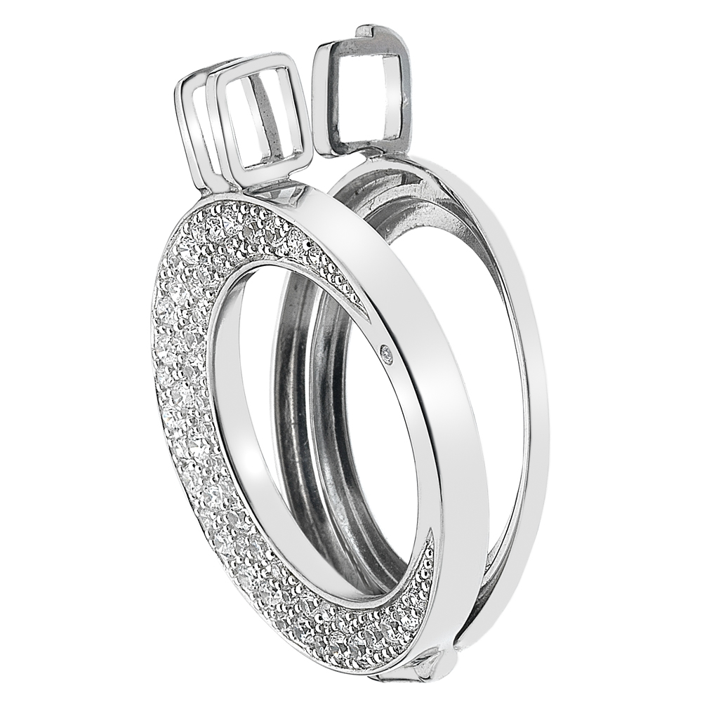 Stříbrný přívěsek Hot Diamonds Emozioni Luna 25 Coin Keeper