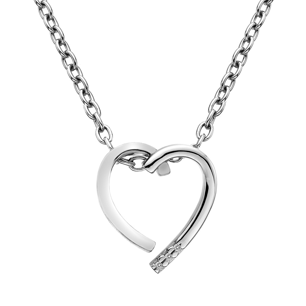 Støíbrný pøívìsek Hot Diamonds Glide Heart