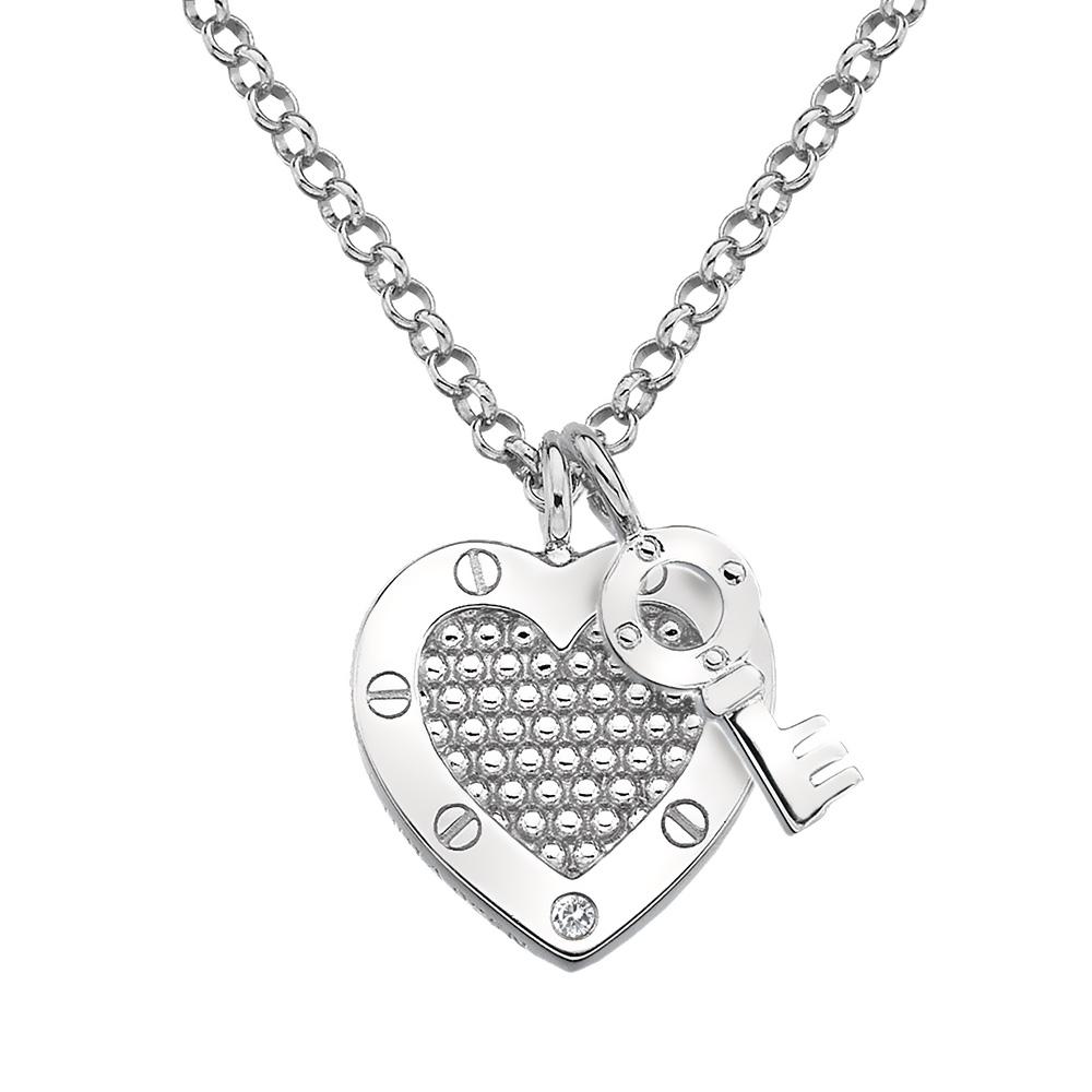 Støíbrný pøívìsek Hot Diamonds Love DP654