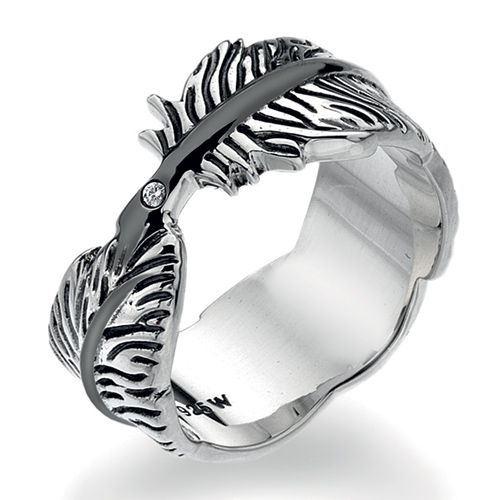 Støíbrný prsten Hot Diamonds Feather