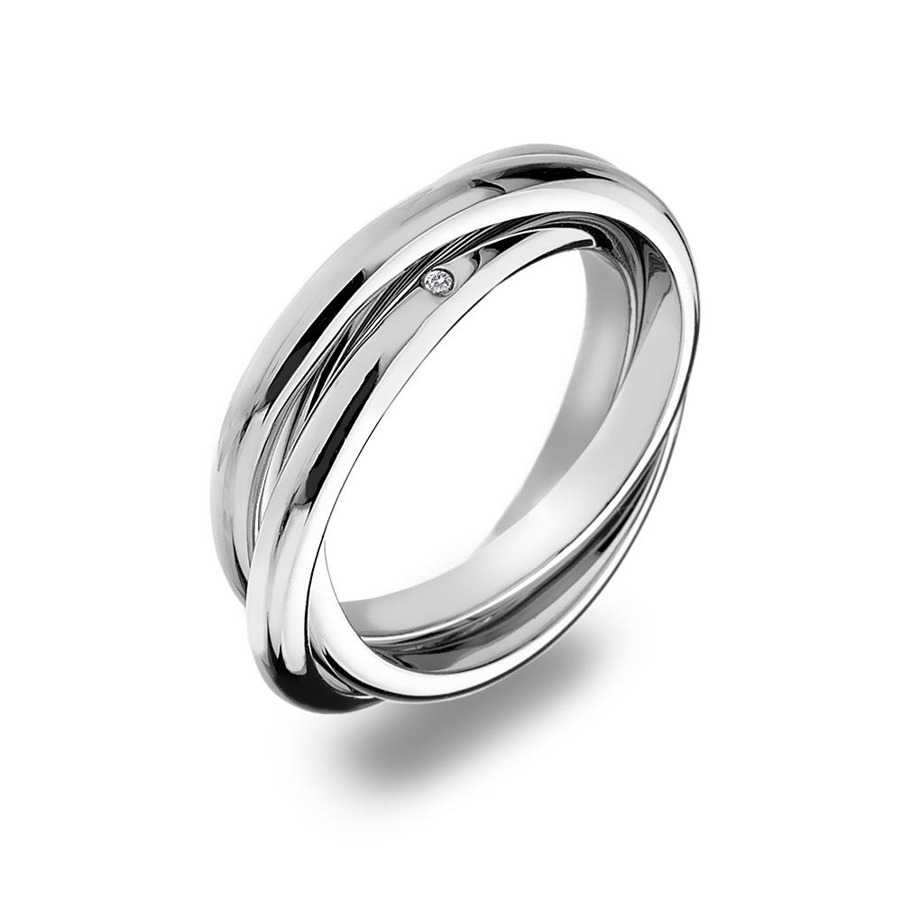 Stříbrný prsten Hot Diamonds Trio